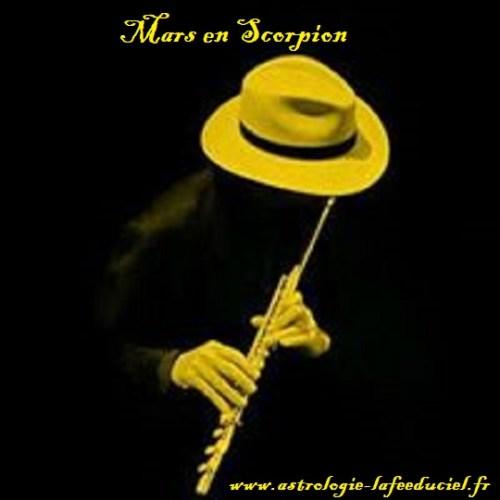 Mars en Scorpion - en mode écriture-