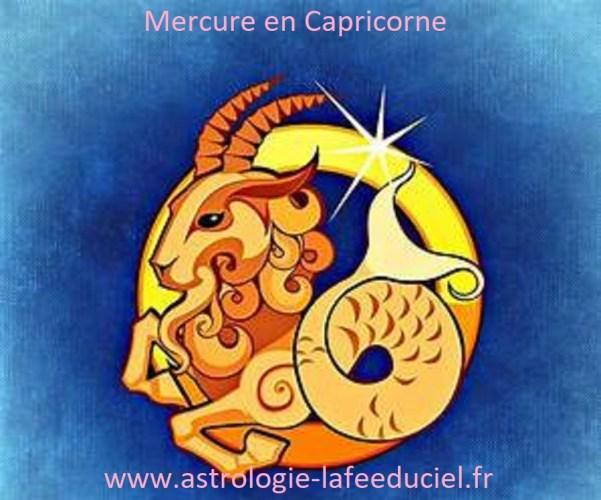 Mercure en Capricorne - en mode écriture-