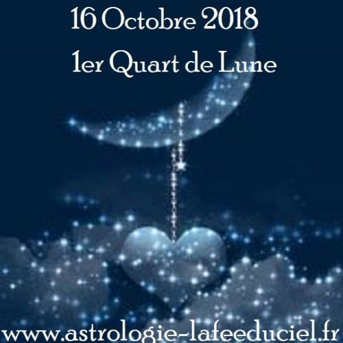 1er Quart de Lune du 16 Octobre 2018
