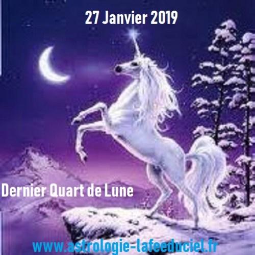 Dernier Quart de Lune du 27 Janvier 2019