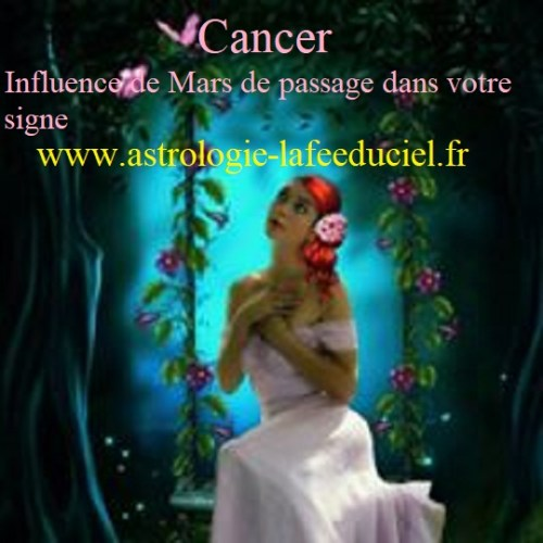 Cancer Influence de Mars de passage dans votre signe