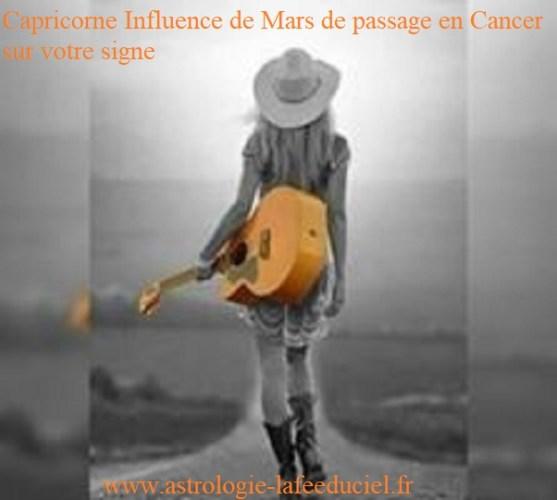 Capricorne Influence de Mars de passage en Cancer sur votre signe