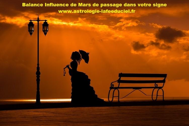 Balance Influence de Mars de passage dans votre signe