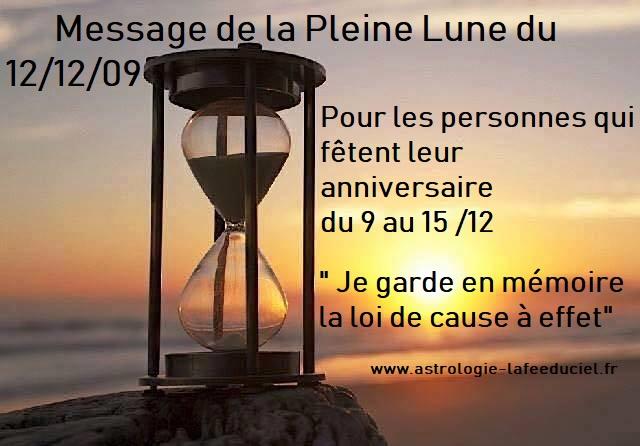 Message de la Pleine Lune du 12 Décembre 2019 pour les personnes qui fêtent leur anniversaire du 9 au 15 Décembre