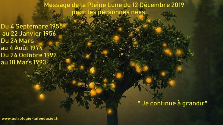 Message de la Pleine Lune du 12 Décembre 2019 pour les personnes nées  Du 4 Septembre 1955 au 22 Janvier 1956  Du 24 Mars au 4 Août 1974  Du 24 Octobre 1992 au 18 Mars 1993