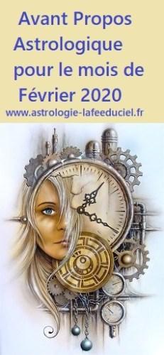 Avant Propos Astrologique pour le mois de Février 2020