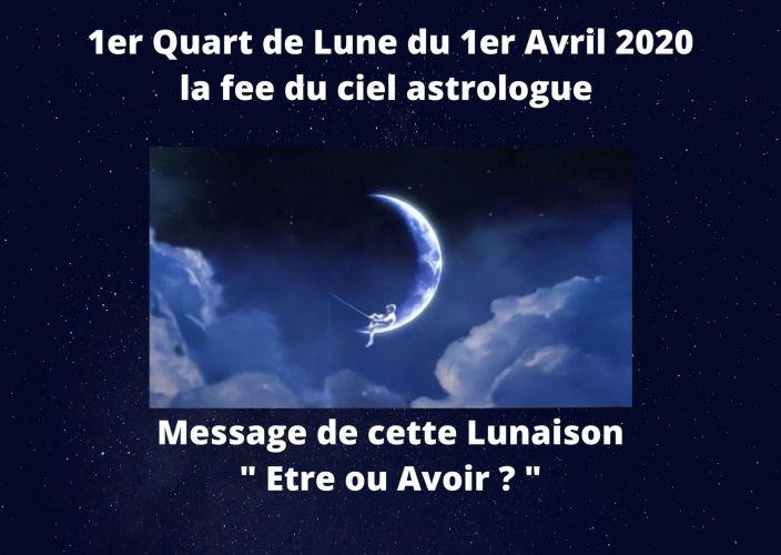 1er Quart de Lune du 1er Avril 2020