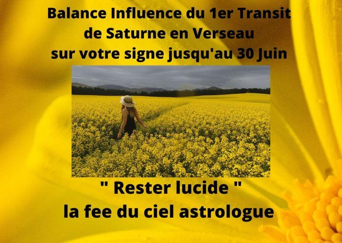 Balance Influence du 1er Transit de Saturne en Verseau sur votre signe-Jusqu'au 30 Juin -
