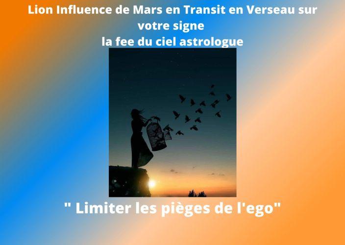 Lion Influence du Transit de Mars en Verseau sur votre signe