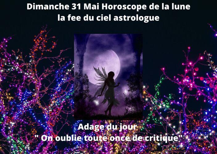 Horoscope de la lune du 31 Mai 2020
