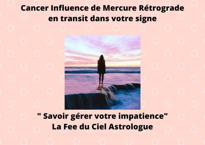 Cancer Influence du transit de Mercure rétrograde dans votre signe