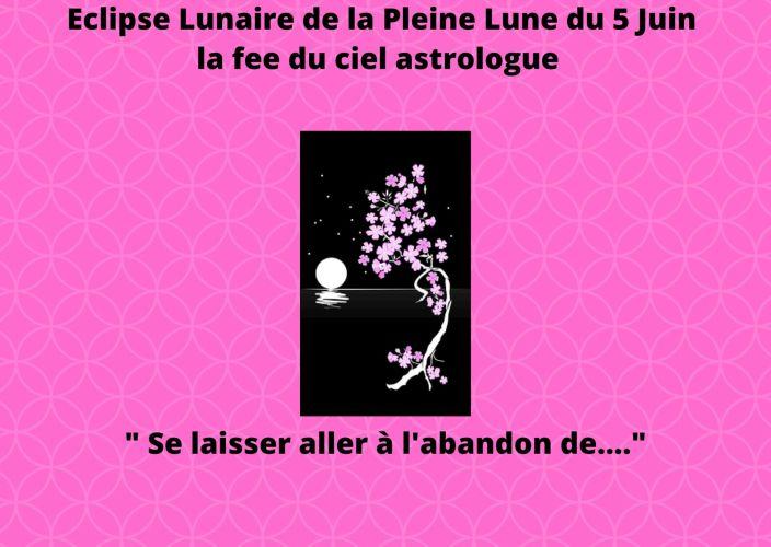 Eclipse Lunaire de la Pleine Lune du 5 Juin 2020