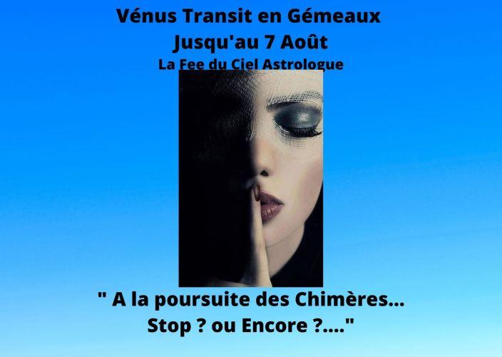 Vénus transit en Gémeaux jusqu'au 7 Août
