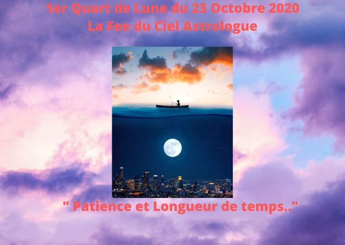 1er Quart de Lune du 23 Octobre 2020