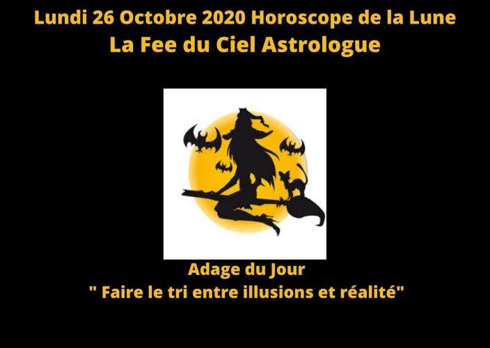 Horoscope de la Lune du 26 Octobre 2020
