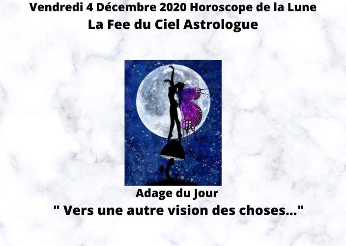 Horoscope de la Lune du 4 Décembre 2020