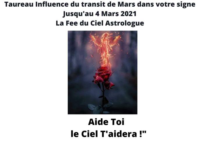 Taureau Influence du transit de Mars dans votre signe jusqu'au 4 Mars 2021