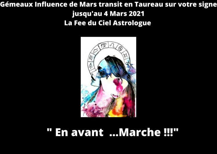 Gémeaux Influence de Mars transit en Taureau sur votre signe jusqu'au 4 Mars 2021