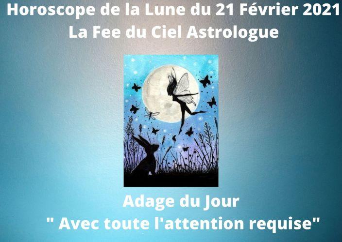 Horoscope de la Lune du 21 Février 2021