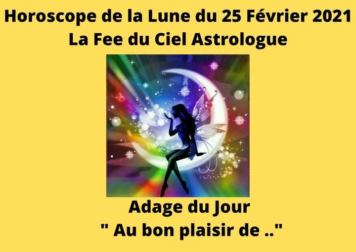 Horoscope de la Lune du 25 Février 2021