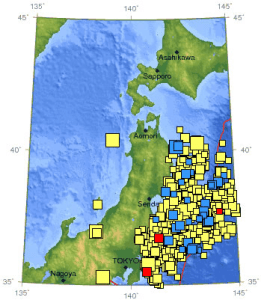 Earthquake Swarm Japan