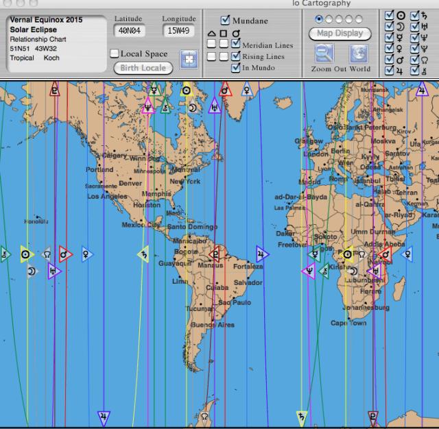 Astro*Carto*graphy of Eclipse/Equinox