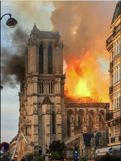 Fire of Notre Dame 4/15/2019