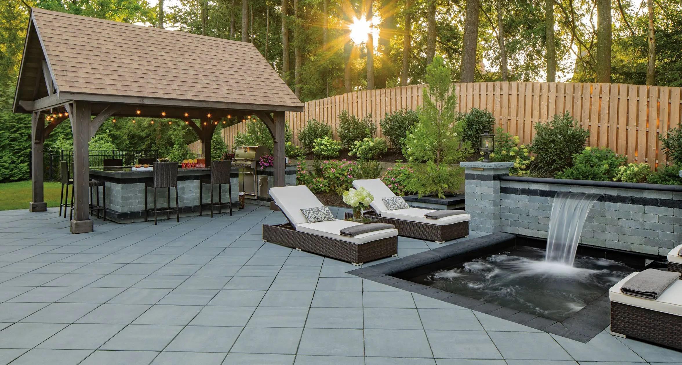 cambridge ledgestone smooth patio with