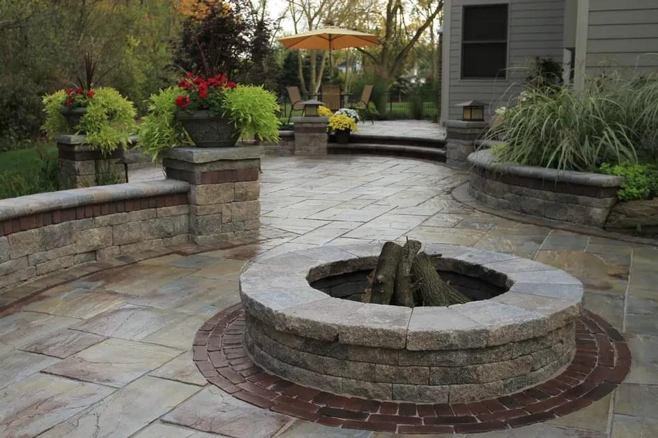 Unilock Fire Pit, Patio, Stoop & Stair, Wall on Unilock Patio Ideas id=39571