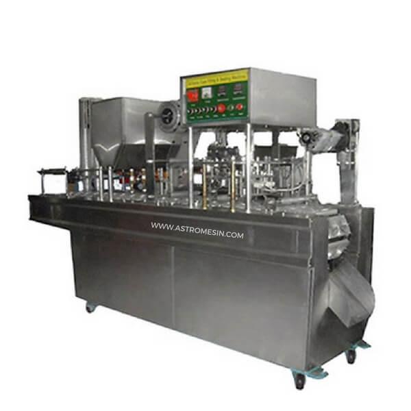 Mesin Kemas AMDK Cup Sealing Otomatis
