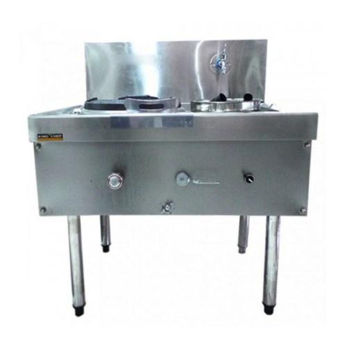 Gas Wok Kwali Range 1 Fry 1 Soup Stainless Steel