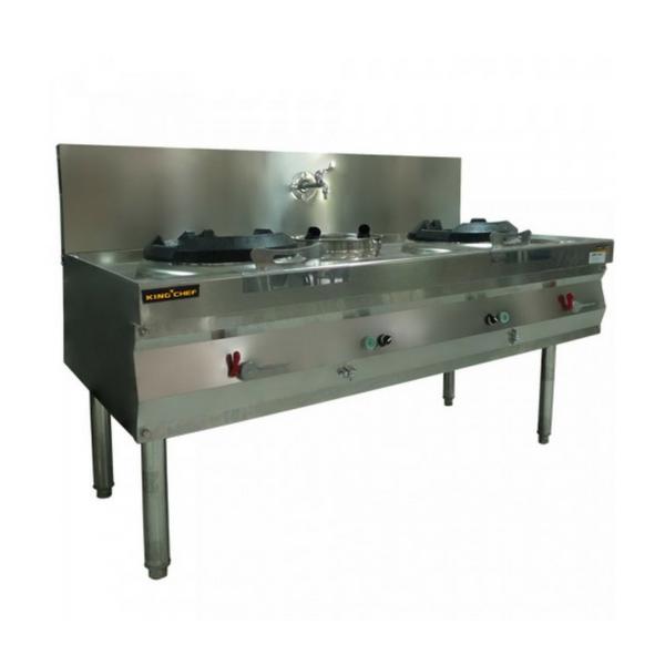 Gas Wok Kwali Range 2 Fry 1 Soup Stainless Steel