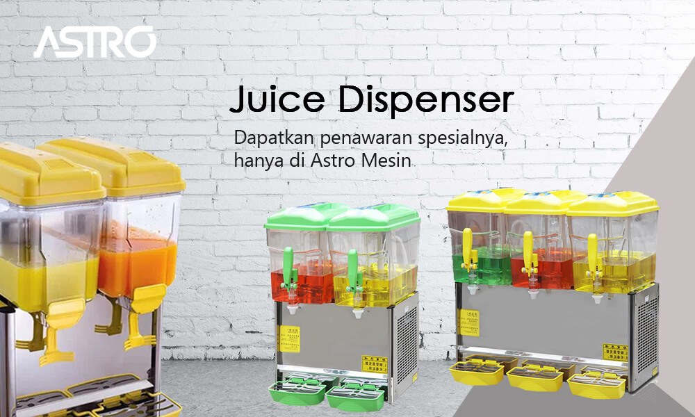 Banner Mesin Juice Dispenser