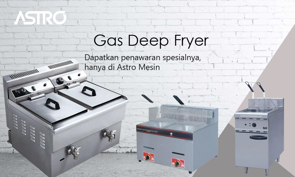 Banner Mesin Gas Deep Fryer