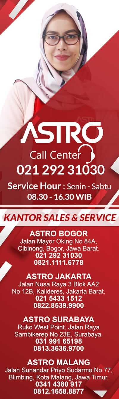 CALL CENTER ASTRO BARU
