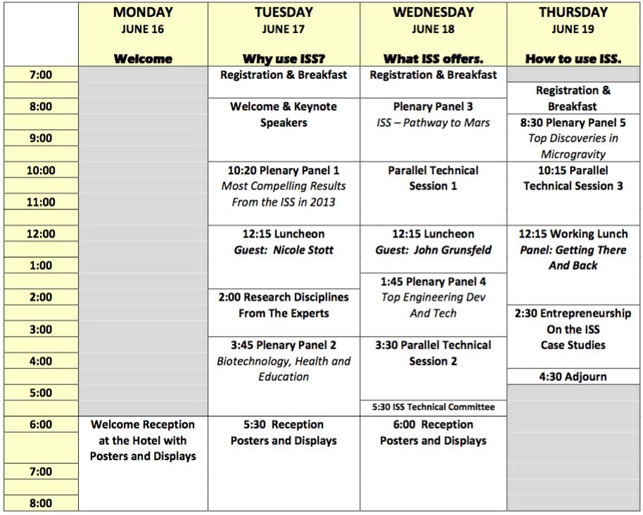 ISSRDC2014 Agenda
