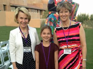 Future Astronaut Katia with Eileen Collins and me
