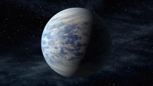 Ilustrasi planet Kepler-69c. Kredit: NASA