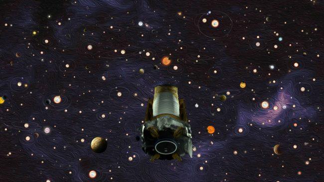 Ilustrasi Wahana Kepler sedang mengamati bintang dan berburu planet. Kredit: NASA