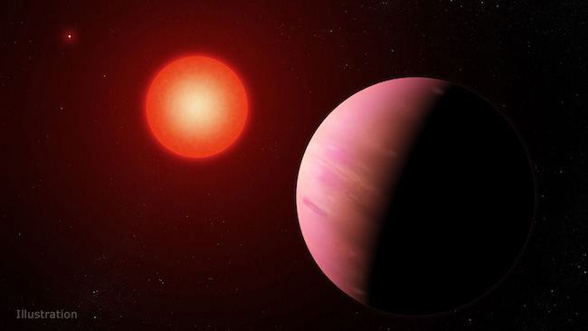 Ilustrasi sistem exoplanet K2-288Bb. Kredit: NASA Goddard Space Flight Center/Francis Reddy