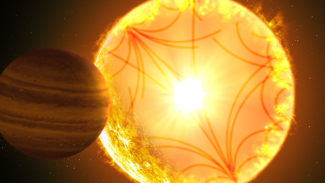Ilustrasi sistem Kepler-1658. Kredit: Gabriel Perez Diaz/Instituto de Astrofísica de Canarias