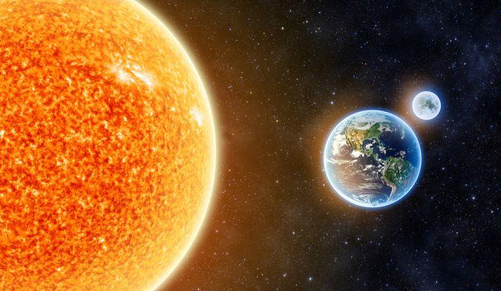 Matahari dan Bumi. Kredit: worldatlas