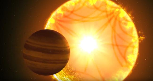Ilustras planet Saturnus Panas yang ditemukan TESS. Kredit:Gabriel Perez Diaz, Instituto de Astrofísica de Canarias