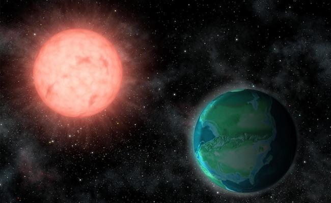 Ilustrasi radiasi yang diterima eksoplanet dari bintang. Kredit: Jack O'Malley-James/Universitas Cornell