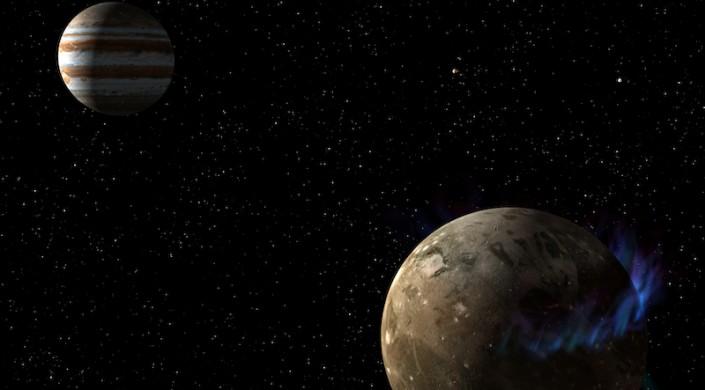 Ganymede dan Jupiter. Kreidt: NASA/ESA