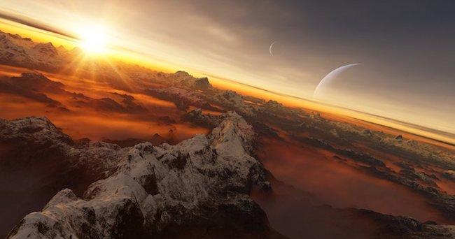 Ilustrasi eksoplanet.