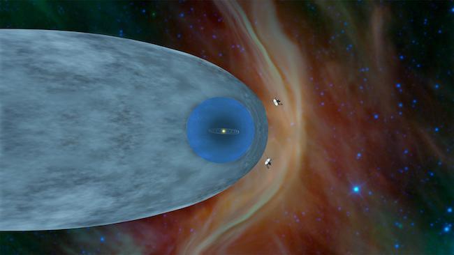 Voyager 1 dan 2 yang sudah memasuki ruang antarbintang. Kredit: NASA