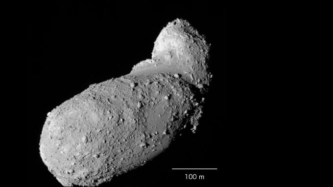 Asteroid Itokawa. Kredit : JAXA