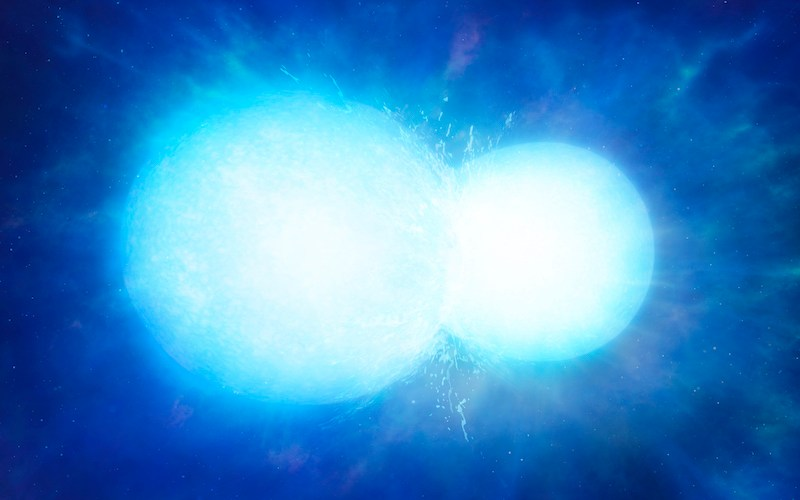 Ilustrasi penggabungan bintang katai putih. Kredit: Universitas Warwick/Mark Garlick