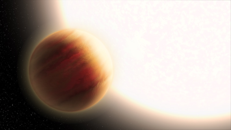Ilustrasi eksoplanet WASP-79b. Kredit: NASA, ESA, dan L. Hustak (STScI)